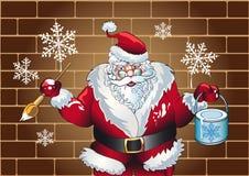 Pinturas de Papá Noel Foto de archivo libre de regalías