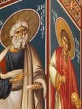Pinturas de pared cristianas Foto de archivo