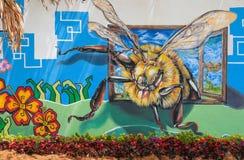 Pinturas de pared del tema de la naturaleza y flor real Imagen de archivo libre de regalías