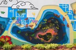 Pinturas de pared del tema de la naturaleza y flor real Imagenes de archivo