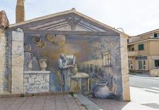 Pinturas de pared en Palau en Cerdeña Imagenes de archivo