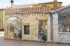 Pinturas de pared en Palau en Cerdeña Foto de archivo libre de regalías