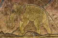 Pinturas de parede, elefante antigo Imagem de Stock Royalty Free