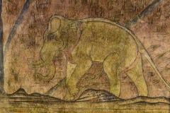 Pinturas de parede, elefante antigo Imagem de Stock