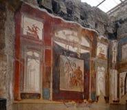 Pinturas de parede em uma casa de Herculaneum imagens de stock royalty free