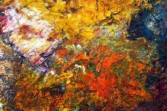 Pinturas de petróleo secas Foto de Stock Royalty Free