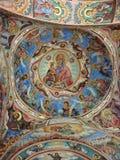 Pinturas de Rila del monasterio foto de archivo