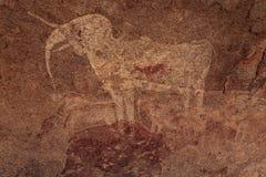 Pinturas del bosquimano Imágenes de archivo libres de regalías