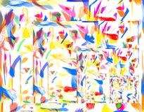 Pinturas del color de gráfico Imagen de archivo