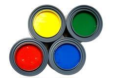 Pinturas del color primario Imágenes de archivo libres de regalías