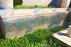Pinturas del fresco en las paredes romanas antiguas Fotografía de archivo libre de regalías