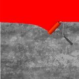 Pinturas del rodillo del cepillo de pintura Fotografía de archivo libre de regalías