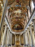 Pinturas del techo de Versalles del palacio Fotografía de archivo
