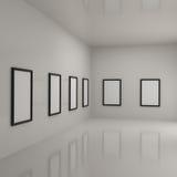 Pinturas dentro de uma galeria ilustração royalty free