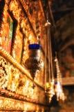 Pinturas e fresco dentro da igreja do St Naum no lago Ohrid, mace Fotografia de Stock