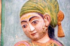 Pinturas em uma porta em um palácio em India Imagens de Stock