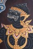 Pinturas em Wat Phra Kaew Fotografia de Stock Royalty Free