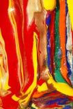Pinturas mojadas y secas abstractas Imagen de archivo