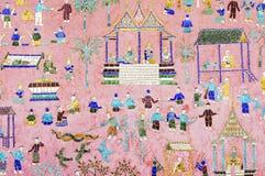 Pinturas murais. Foto de Stock