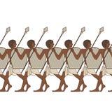 Pinturas murais com cena de Egito antigo Fotografia de Stock
