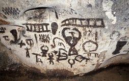 Pinturas murais da caverna fotos de stock royalty free