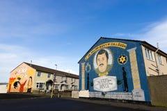 Pinturas murais de Belfast Fotos de Stock