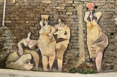 Pinturas murais de Orgosolo fotografia de stock