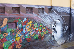 Pinturas murais de Valparaiso Fotografia de Stock Royalty Free