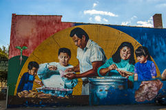 Pinturas murais em Pilsen, Chicago Foto de Stock