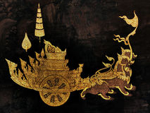 Pinturas murais na parede exterior do palácio Banguecoque Tailândia do rei Fotografia de Stock Royalty Free