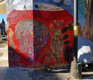 Pinturas murais no distrito da missão, San Francisco fotografia de stock