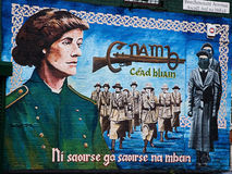 Pinturas murais políticas em Belfast fotografia de stock royalty free