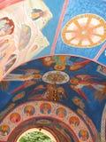 Pinturas murales del Svyatogorsk Dormition Laura Imagen de archivo libre de regalías