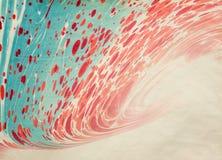 Pinturas naturales rojas de la falta de definición del papel de Ebru Foto de archivo