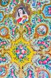 Pinturas no design de interiores da casa de Qavam, Shiraz, Irã Imagem de Stock
