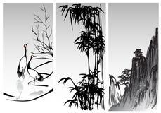 Pinturas orientales stock de ilustración