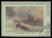 Pinturas por Aivazovsky, arco-íris fotografia de stock