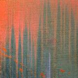 Pinturas que se escapan abajo en lona pintada extracto Imagen de archivo libre de regalías