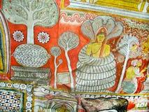 Pinturas religiosas dentro da rocha Fotos de Stock