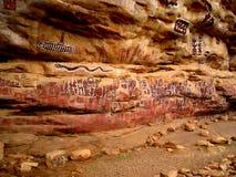 Pinturas tribales africanas Imagen de archivo libre de regalías