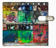 Pinturas velhas da aquarela dos artis Fotos de Stock