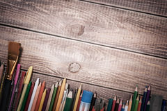 Pinturas y lápices Fotos de archivo libres de regalías