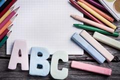 Pinturas y lápices Imagen de archivo libre de regalías