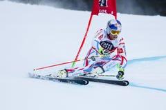 PINTURAULT Alexis in gi di Men's della tazza di Audi Fis Alpine Skiing World Fotografie Stock Libere da Diritti
