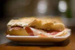 Pintxo Jamon Serrano or Spanis Stock Photography
