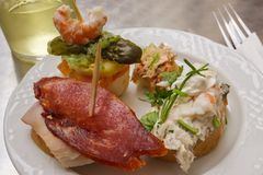 Pintxos Spain Stock Photo