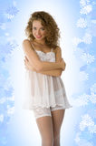 Pinup in babydoll Stock Photography