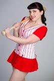 Pinup Baseball-Mädchen Stockfotos