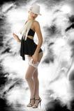 Pinup in black dress Royalty Free Stock Image