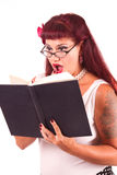 Pinup with book Royalty Free Stock Photography